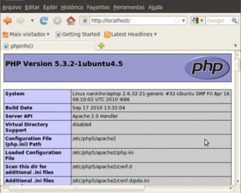 Informações do PHP